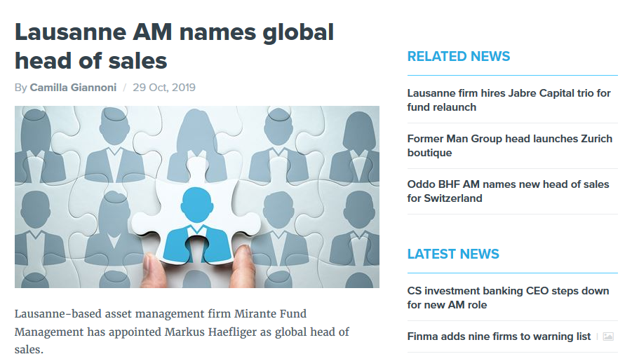 MFM names global head of sales