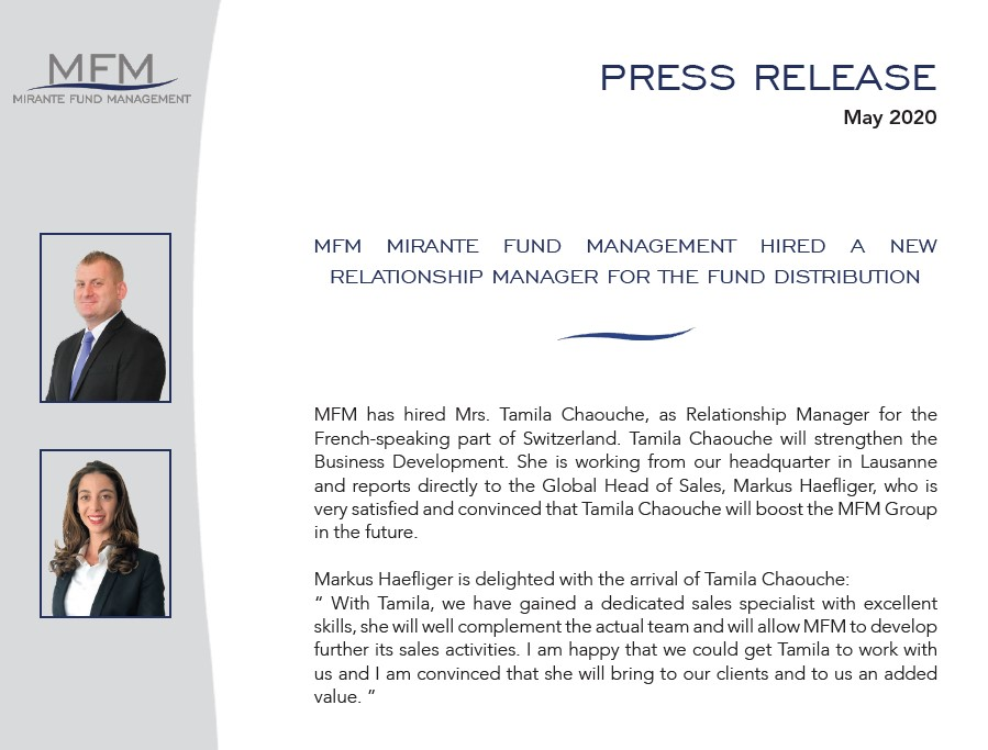 MFM Mirante Fund Management hired a new relationship manager