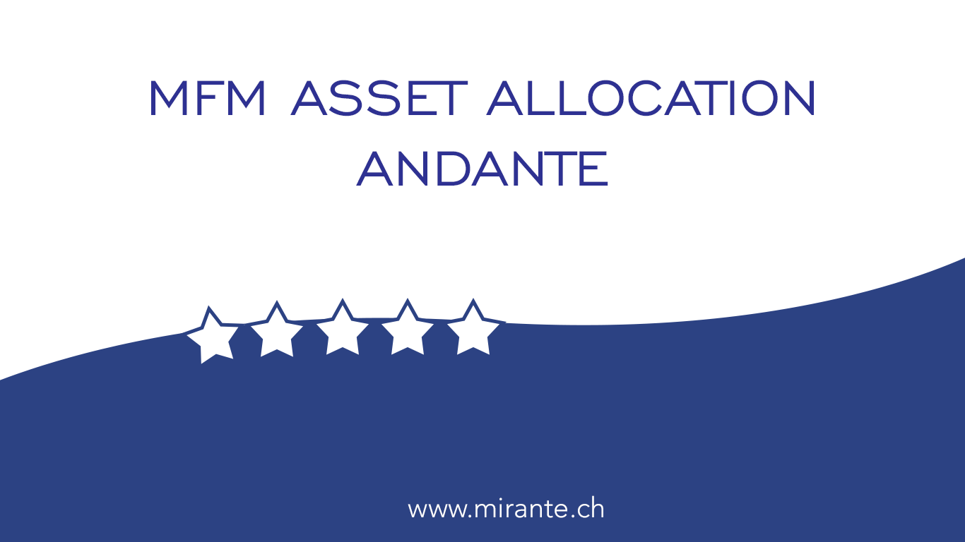 """5 stars by Morningstar for our balanced multi-asset strategy """"ANDANTE"""""""